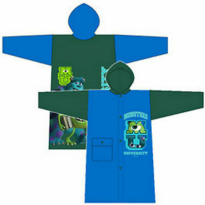 MONSTERS UNIVERSITY - Children's Raincoat Green & Blue Waterproof PVC