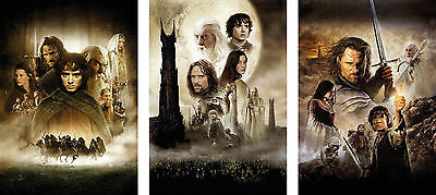 Lord of The Rings Trilogy Poster Set - A4 A3 A2 Sets Available