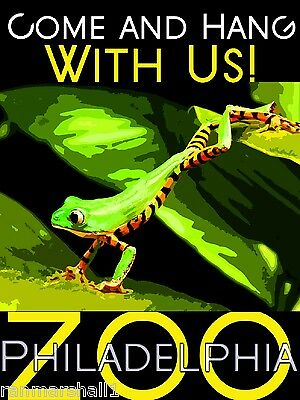 Philadelphia Pennsylvania Zoo Green Frog United States Advertisement Art Poster