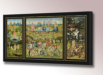 Hieronymus Bosch Garden of Earthly Delights Canvas Wall Art Picture