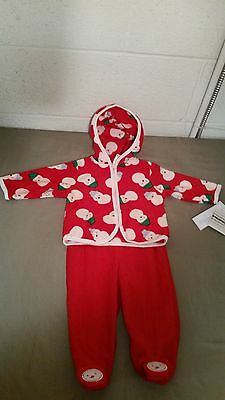 NWT Christmas Holiday Infant Girls Snowman 2Pc Pant Set~Size 0-3 Months