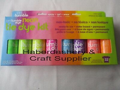 Fabric & Craft Dye Kit*permanent 8 Neon Colors *water Based