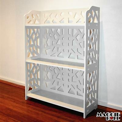 New White Hollow Carved Kitchen Bathroom Storage shoes Rack book shelves dq8060