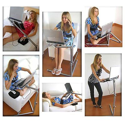 Universal Foldable Aluminum 360° Adjustable Laptop Stander with Mouse Pad Desk