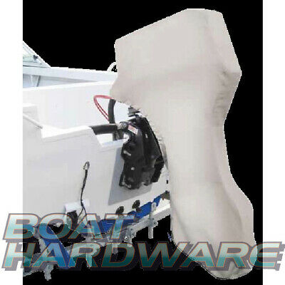 Full Outboard BOAT Canvas COVER Suit 115-150hp Motor Engine Heavy Duty Towable