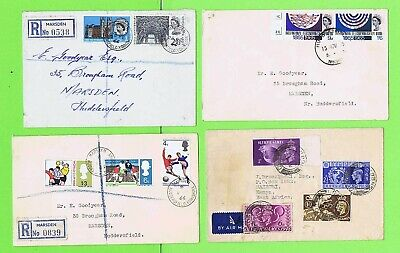 GB Collection of four earlier QEII and KGVI Covers