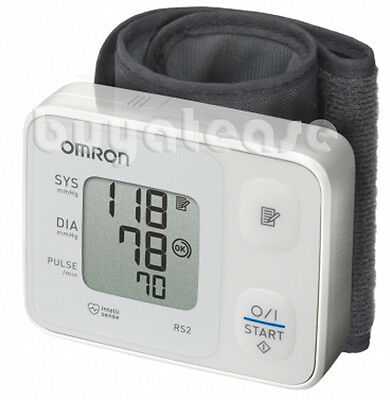 OMRON RS2 Digital Wrist Blood Pressure Monitor HEM-6121 IntelliSense 30 Memory