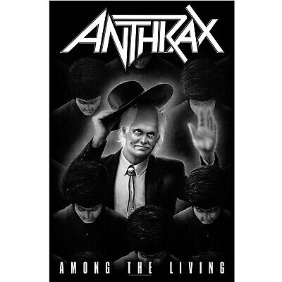 ANTHRAX Among The Living POSTER FLAG Official Fabric Premium Textile NEW