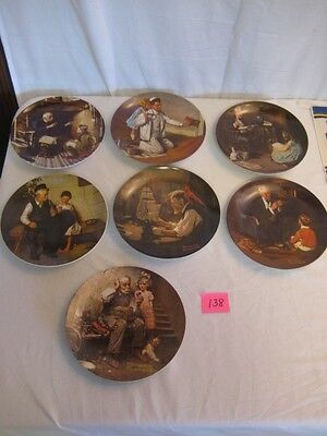 Norman Rockwell Plates Heritage Collection-#2,3,4,6,7,8 &12-Set of 7