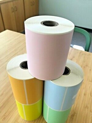 PINK 2 Rolls 4x6 Direct Thermal Labels Rolls 250 / 500. For Eltron Zebra 2844