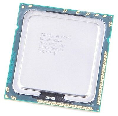 Intel Xeon X5560 SLBF4 Quad Core CPU 4x 2.8 GHz, 8 MB Cache, 6.4 GT/s, S. 1366
