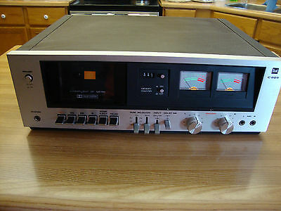 VINTAGE DUAL STEREO CASSETTE DECK MODEL C 809 MADE IN JAPAN
