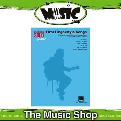 New First Fingerstyle Songs for Beginning Solo Guitar Music Book with Tab