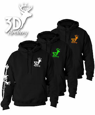 3D Archery Brand Hoodie,Compound Bow,Recurve,Target,Arrow,bowhunter,apparel