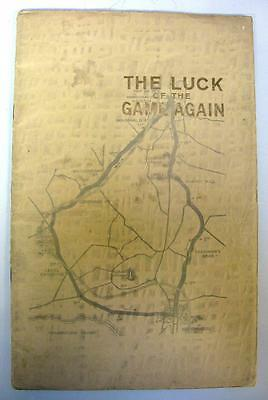 """""""LUCK OF THE GAME AGAIN"""" - MG Cars Publicity Piece - 1934 T.T. Race"""