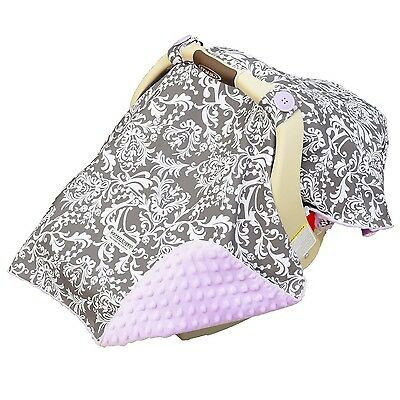"CARSEAT CANOPY BABY CAR SEAT CANOPY COVER BLANKET COTTON BRAND NEW "" BELLE """