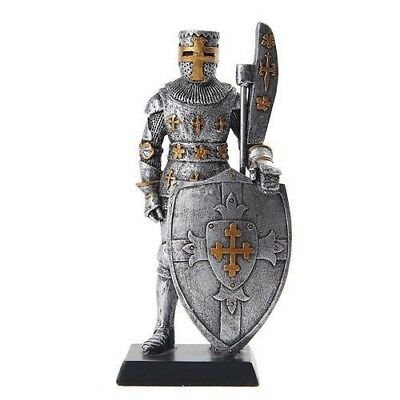 "Elite Guard Statue Medieval Knight of Valor Bardiche Unit 5""H Figurine Miniature"