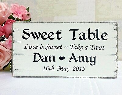 Wedding SWEET TABLE candy bar table sign free standing vintage SW2