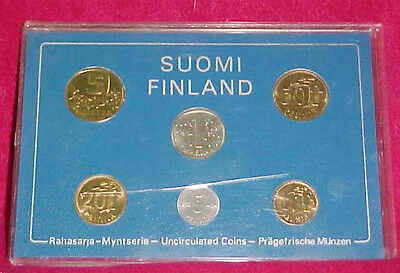 Suomi Finland 6 Coin Proof Set Euro 1980 Official Mint Finnish UNC Uncirculated