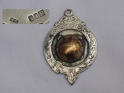 Fine Large English 9ct Gold/Sterling Silver George VI 1946 Football Fob,