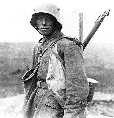 World War 1 Battle of the Somme 1916 German Soldier 4x4 inch Reprint Photo