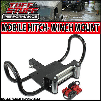 """TUFF STUFF WINCH MOBILE TOW HITCH MOUNT 2"""" RECEIVER TRUCK/TRAILER RATED 12000LBS"""