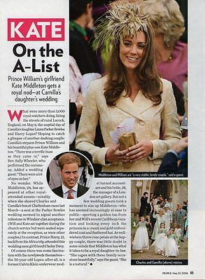 KATE MIDDLETON  (1 page)  2006 Picture Clipping   vd