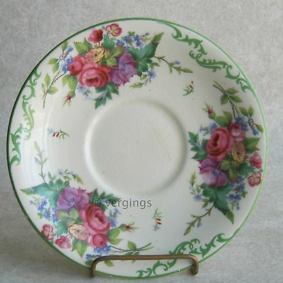 Mintons Kenilworth England Creamware Saucer and No Cup Shabby Floral Chic China