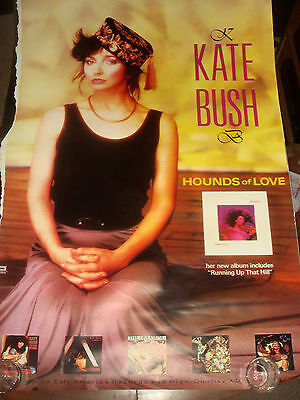 "Rare Vintage 1985 KATE BUSH ""HOUNDS OF LOVE"" EMI RECORDS PROMO USA SUBWAY POSTER"