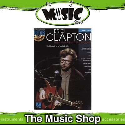 New Eric Clapton 'Unplugged' Guitar Play Along Book & CD - Volume 155