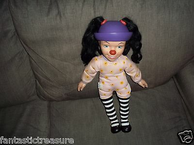 RARE PLUSH DOLL FIGURE TALKING LOONETTE BIG COMFY DOLL BBC'S CHARACTER CLOWN TOY
