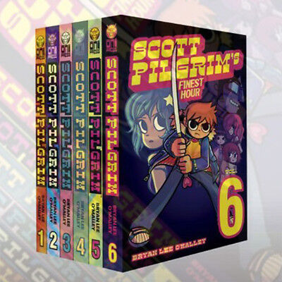 Scott Pilgrim Bryan Lee O'Malley 1-6 Books Collection Set, Volumes 1-6 Brand New