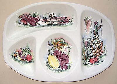 "Beswick: Four Bowl Hors D'oeuvre Dish (Fruit, Veg, & Wine): No.1586: 14"" x 9¾"""