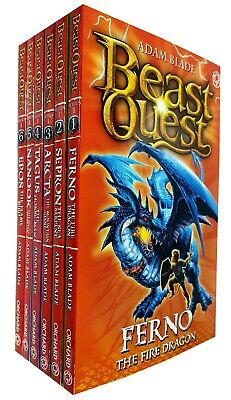 Beast Quest Pack: Series 1, Volume 1 to 6 Books Collection Set By Adam Blade New