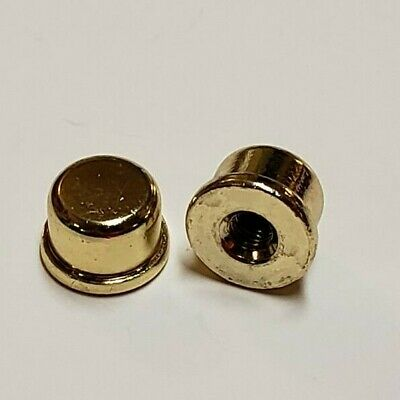 """Lot Of 2 Brass Plated Lamp Finials 3/8""""H Lamp Part New 50009J"""