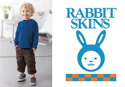 Rabbit Skins Long Sleeve Cotton TShirt Tee Toddler Boys Girls 2T 3T 4T 5/6 3311