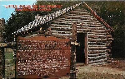 KS-INDEPENDENCE-LITTLE HOUSE ON THE PRAIRIE-LOG CABIN-H35561