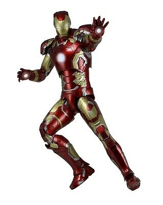 IRON MAN Mark 43 Avengers Age Of Ultron 45cm Figur 1/4 Scale+LED Lights NECA OVP