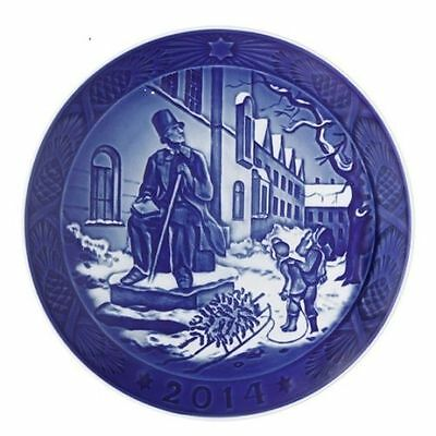 New In Box 2014 Royal Copenhagen Christmas Plate Rc Free Shipping Msrp $105