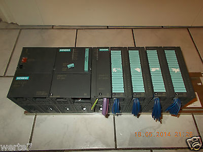 Siemens PLC CPU 315,6ES7-313-1AF01-0AB0+ET200M+Stand+Power Adapter+4 Dig. On/Off