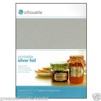 Silhouette Inkjet Printable Adhesive Silver Foil - Portrait Cameo 2 &  Curio