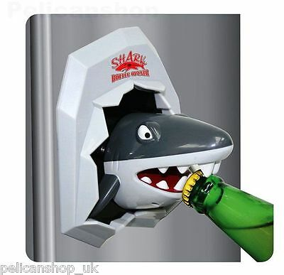 Fridge Magnet - Shark Beer Bottle Opener Cool Great White Great Bbq Party Gift