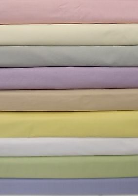 """Luxury 2'6""""bed frilled fitted valance(over the mattress) sheet 68pick 13 colours"""