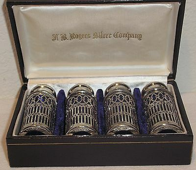 4 Individual Silver Salt Shakers - A.B. Rogers Silver Company