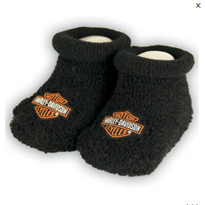 Harley-Davidson Baby Infant Boxed Terry Booties - 0/3M
