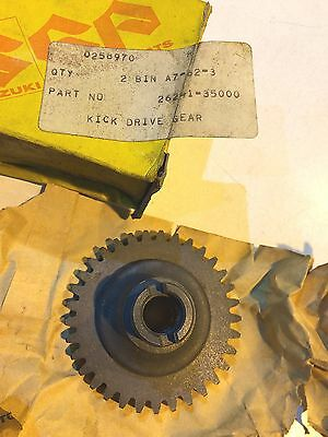 NOS Genuine Suzuki GT50 FR50 FR80 Kickstart Gear NEW 26241-35000