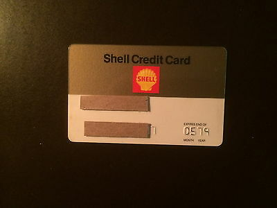 Shell Oil Company 1979 Vintage Collectors Credit Card