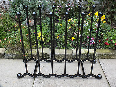 Wrought Iron Wellington Boot Rack 6 Pairs Wellie Stand Welly Holder - Storage