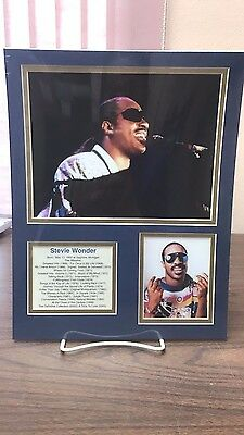 Stevie Wonder - Front Row Collectibles Unframed Celebrity Bio Photograph Set