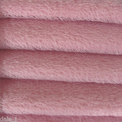 """1/3 yd 300S Pink Rose INTERCAL 1/2"""" Ultra-Sparse German Mohair Fur Fabric"""